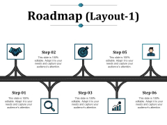Roadmap Template 1 Ppt PowerPoint Presentation Ideas Icon