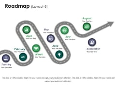 Roadmap Template 5 Ppt PowerPoint Presentation Infographics Show