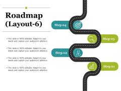 Roadmap Template 6 Ppt PowerPoint Presentation Ideas Graphics Tutorials