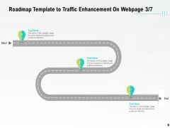 Roadmap Template To Traffic Enhancement On Webpage Ppt PowerPoint Presentation Icon Graphic Tips PDF