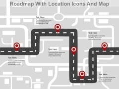 Roadmap With Location Pointers Powerpoint Slides