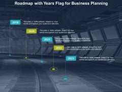 Roadmap With Years Flag For Business Planning Ppt Powerpoint Presentation Icon Inspiration