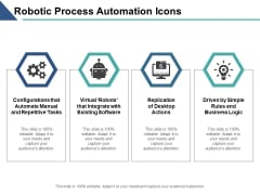 Robotic Process Automation Icons Ppt PowerPoint Presentation Outline Model
