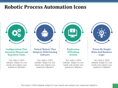 Robotic Process Automation Icons Ppt PowerPoint Presentation Portfolio Styles