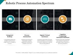 Robotic Process Automation Spectrum Ppt PowerPoint Presentation Infographic Template Objects