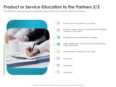 Robust Partner Sales Enablement Program Product Or Service Education To The Partners Step Topics PDF