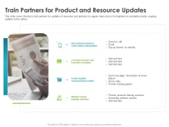 Robust Partner Sales Enablement Program Train Partners For Product And Resource Updates Mockup PDF