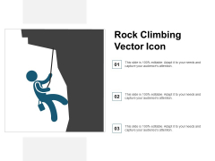 Rock Climbing Vector Icon Ppt PowerPoint Presentation Pictures Icon