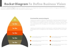Rocket Diagram To Define Business Vision PowerPoint Slides