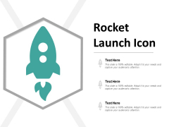 Rocket Launch Icon Ppt Powerpoint Presentation Infographics Topics