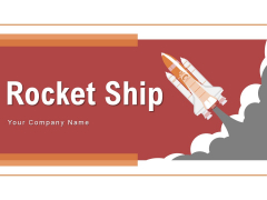 Rocket Ship Exhaust Gases Launch Pad Ppt PowerPoint Presentation Complete Deck
