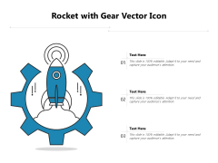 Rocket With Gear Vector Icon Ppt PowerPoint Presentation Summary Example Topics PDF