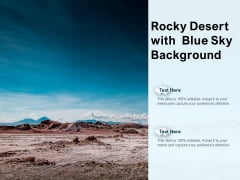 Rocky Desert With Blue Sky Background Ppt PowerPoint Presentation Portfolio Themes PDF