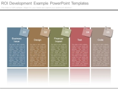 Roi Development Example Powerpoint Templates