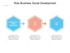 Role Business Social Development Ppt PowerPoint Presentation Gallery Visuals Cpb