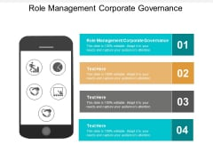 Role Management Corporate Governance Ppt PowerPoint Presentation Outline Graphics Download Cpb
