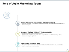 Role Of Agile Marketing Team Ppt PowerPoint Presentation Ideas Graphics Tutorials