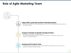 Role Of Agile Marketing Team Ppt PowerPoint Presentation Professional Graphics Design