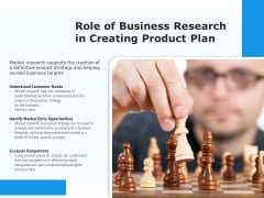 Role Of Business Research In Creating Product Plan Ppt PowerPoint Presentation Layouts Topics PDF
