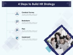 Role Of Human Resource In Workplace Culture 4 Steps To Build HR Strategy Introduction PDF