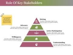 Role Of Key Stakeholders Ppt PowerPoint Presentation Professional Information