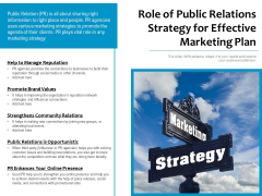 Role Of Public Relations Strategy For Effective Marketing Plan Ppt PowerPoint Presentation Inspiration Tips PDF