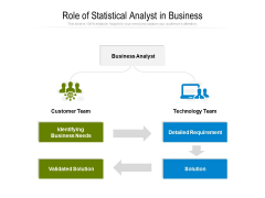 Role Of Statistical Analyst In Business Ppt PowerPoint Presentation Icon Clipart PDF