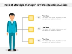 Role Of Strategic Manager Towards Business Success Ppt PowerPoint Presentation Gallery Picture PDF