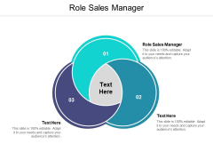 Role Sales Manager Ppt PowerPoint Presentation Gallery Slide Cpb