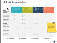 Roles And Responsibilities Ppt PowerPoint Presentation Professional Designs