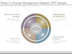Roles In Change Management Diagram Ppt Sample