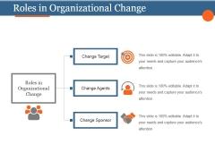 Roles In Organizational Change Ppt PowerPoint Presentation Ideas