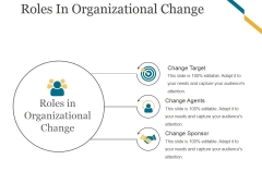 Roles In Organizational Change Ppt PowerPoint Presentation Images