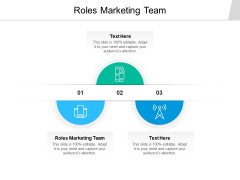 Roles Marketing Team Ppt PowerPoint Presentation Infographic Template Slide Portrait Cpb