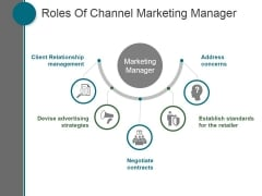 Roles Of Channel Marketing Manager Ppt PowerPoint Presentation Tips