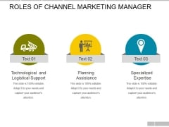 Roles Of Channel Support Specialist Ppt PowerPoint Presentation Styles Ideas
