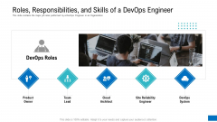 Roles Responsibilities And Skills Of A Devops Engineer Background PDF