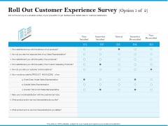 Roll Out Customer Experience Survey Option Neutral Summary PDF