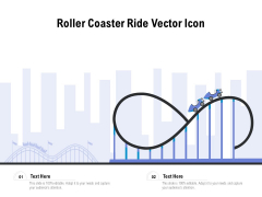 Roller Coaster Ride Vector Icon Ppt PowerPoint Presentation File Icon PDF