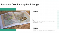 Romania Country Map Book Image Ppt PowerPoint Presentation File Skills PDF