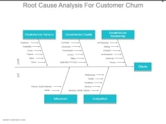 Root Cause Analysis For Customer Churn Ppt Examples Slides