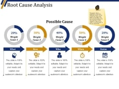Root Cause Analysis Template 2 Ppt PowerPoint Presentation Outline Design Templates