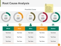 Root Cause Analysis Template 2 Ppt PowerPoint Presentation Outline Slides