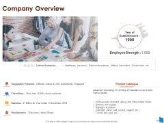 Rotary Press Printing Company Overview Ppt Ideas Example Topics PDF