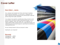 Rotary Press Printing Cover Letter Ppt Icon PDF