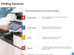 Rotary Press Printing Printing Services Ppt Portfolio Gallery PDF