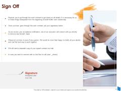 Rotary Press Printing Sign Off Ppt Slides Ideas PDF