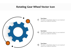 Rotating Gear Wheel Vector Icon Ppt PowerPoint Presentation Slides Aids PDF