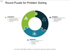 Round Puzzle For Problem Solving Ppt PowerPoint Presentation Summary Smartart