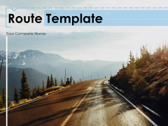 Route Template Mountain And Ocean Directional Arrow Ppt PowerPoint Presentation Complete Deck